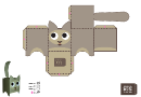 Cat Paper Toy Box Template