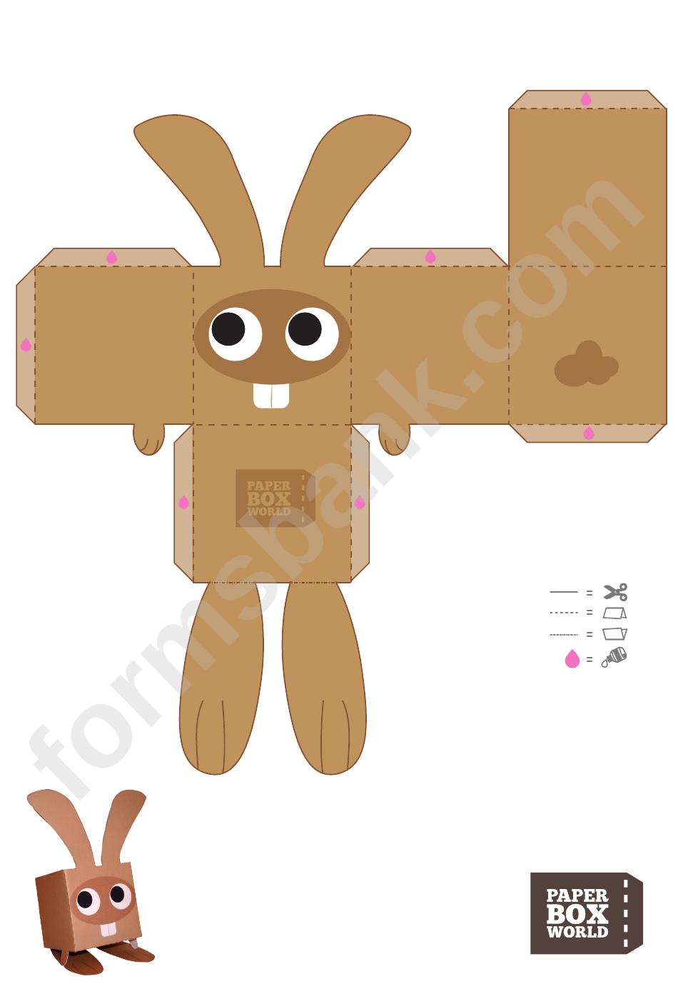 Сделать зайца из бумаги