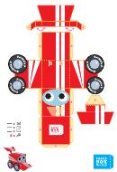 Race Car Paper Model