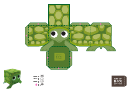 Turtle Paper Toy Box Template