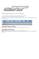 Jn Paintball Apparel Size Chart