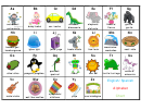 English/spanish Alphabet Chart