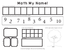Apple Tree Math My Name Worksheet Template