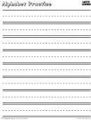 Alphabet Practice Sheets