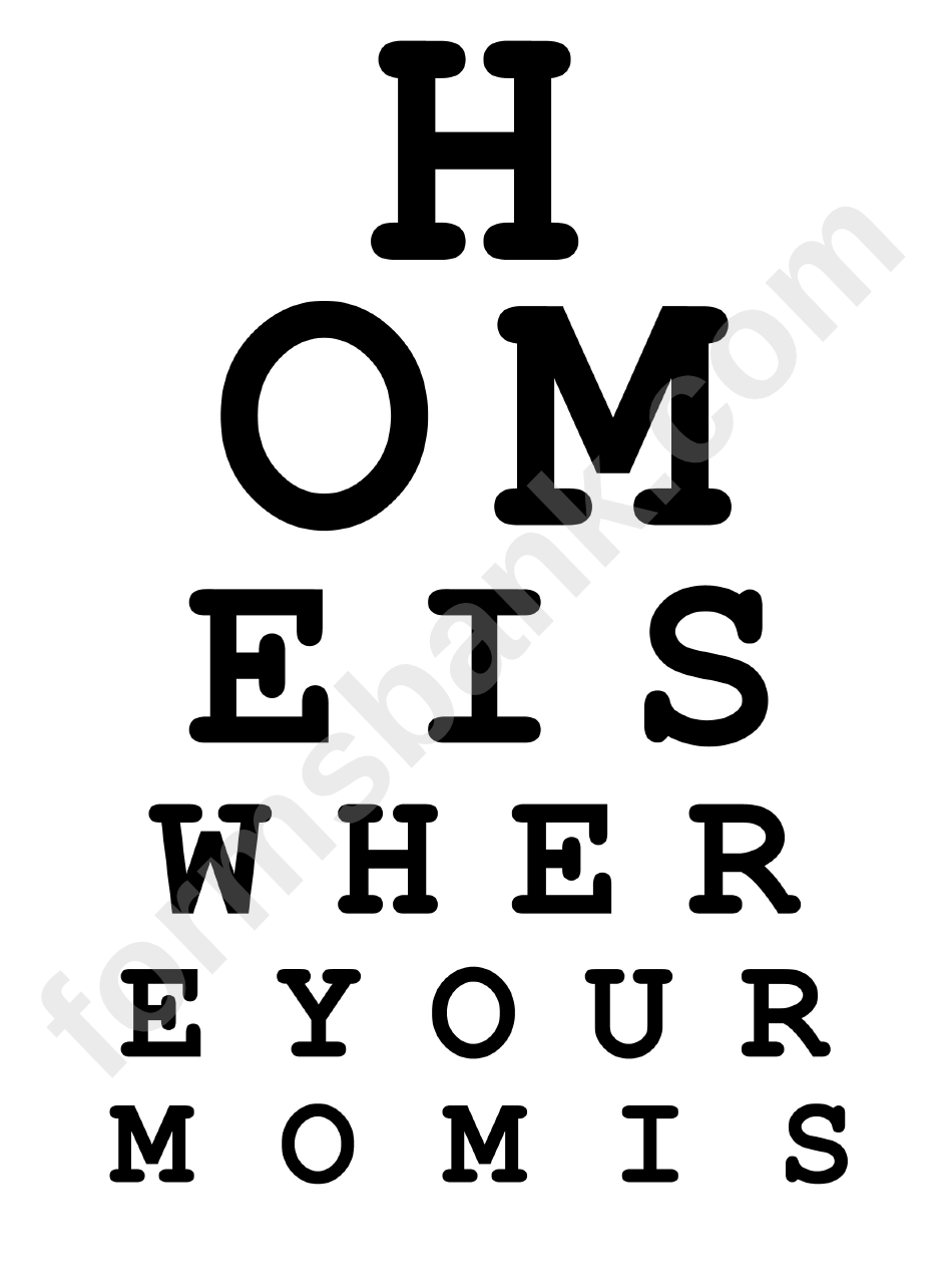 Eye Chart Template Eye Chart Template Exam Ozeano Custom Eye Chart