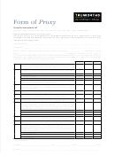 Proxy Form - Truworths