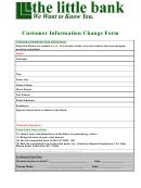 Customer Information Change Form - The Little Bank