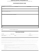 Maintenance Request Form