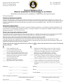 Proof Of Residency Form