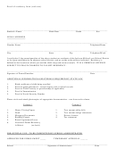 Proof Of Residency Form (web Site)