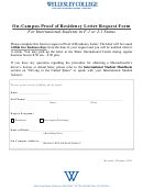 On-campus Proof Of Residency Letter Request Form