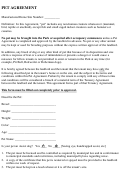 Pet Agreement Template