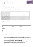 Pet Application And Agreement Template