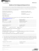 Medicare Part B - Appeals Request Form