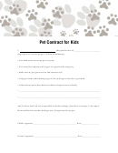 Pet Contract For Kids