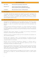 Business Development Executive Job Description
