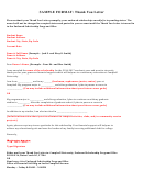 Sample Scholorship Thank You Letter Format