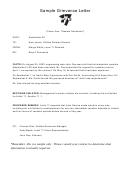 Sample Grievance Letter