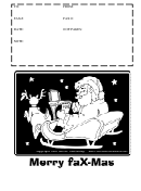 Christmas Fax Cover Sheet