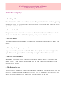 Wedding Ceremony Order Of Events And Ceremony Timeline