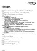 Event Checklist