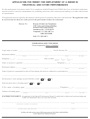 Llc-12 - Application For Permit For Employment Of A Minor In Theatrical And Other Performances