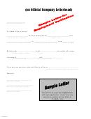 Sample Letter For Employment Verification
