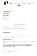 K1 Class Association Membership/renewal Form