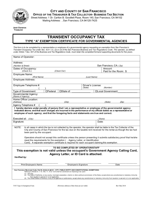Top Hotel Tax Exempt Form Templates free to download in PDF format