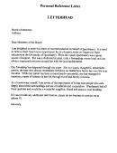 Various Reference Letter Template