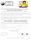 City Of Golden - Payment Authorization