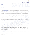 Example Fundraising Letter Template