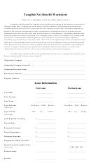 Tangible Net Benefit Worksheet Template