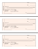 Pink Cash Receipt Template