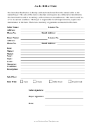 As Is Bill Of Sale Form