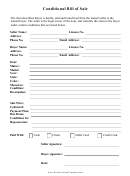 Conditional Bill Of Sale Form
