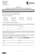 Employer And Spouse Income Tax Declaration