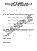 Revocation Of Illinois Statutory Short Form Power Of Attorney For Health Care