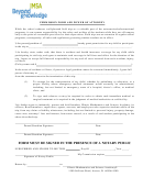 Permission Form And Power Of Attorney