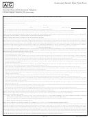 Form Aglc108575 - Accelerated Benefit Rider Claim Form - Aig