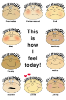 Feelings Chart For Kids - This Is How I Feel Today