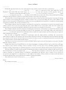 Owner's Affidavit