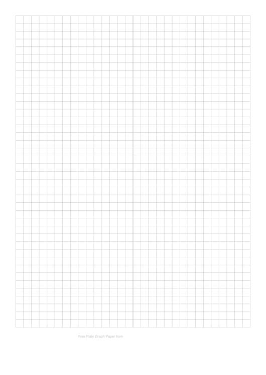 Plain Graph Paper Template Printable pdf