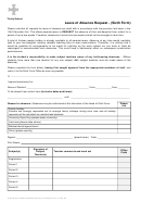 Leave Of Absence Form - Trinity School