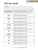 Pvc Size Guide Chart