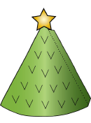 Christmas Cone Paper Tree Template