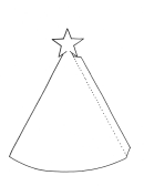 Christmas Cone Tree Template