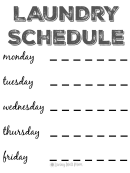 Gray Monday-friday Schedule