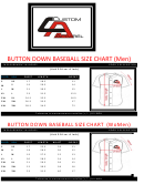 Button Down Baseball Size Chart