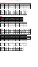Triathlon Apparel Sizing Chart